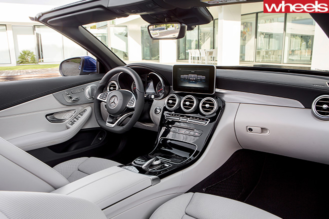 Mercedes -C-Class -interior -roof -down