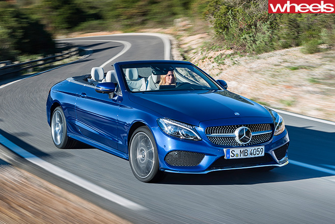 Mercedes -C-Class -front -roof -down