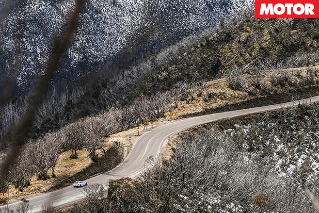 Ferrari FF Alpine driving