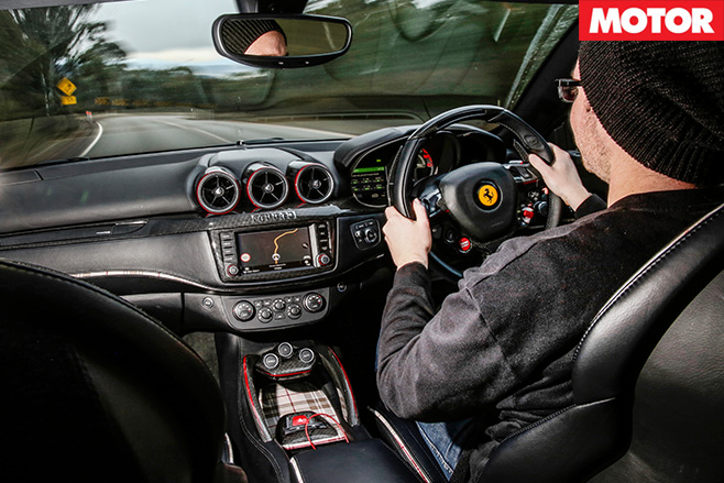 Driving the Ferrari interior