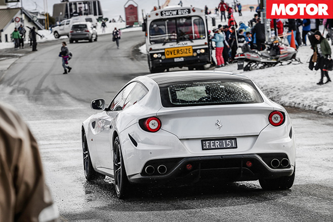 Ferrari FF driving in hotham