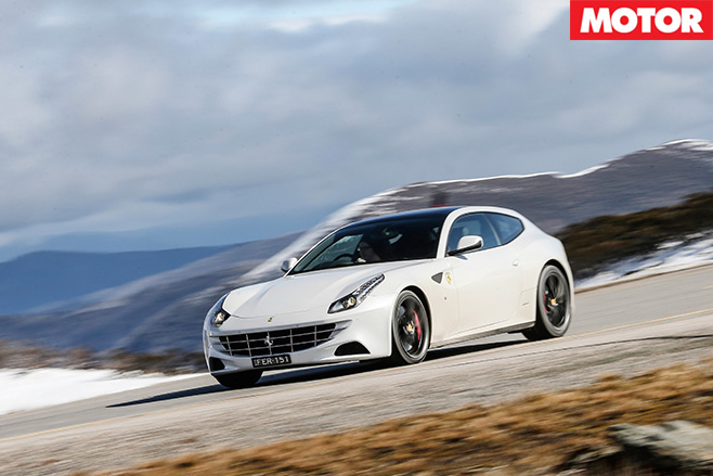 Ferrari FF driving downhill