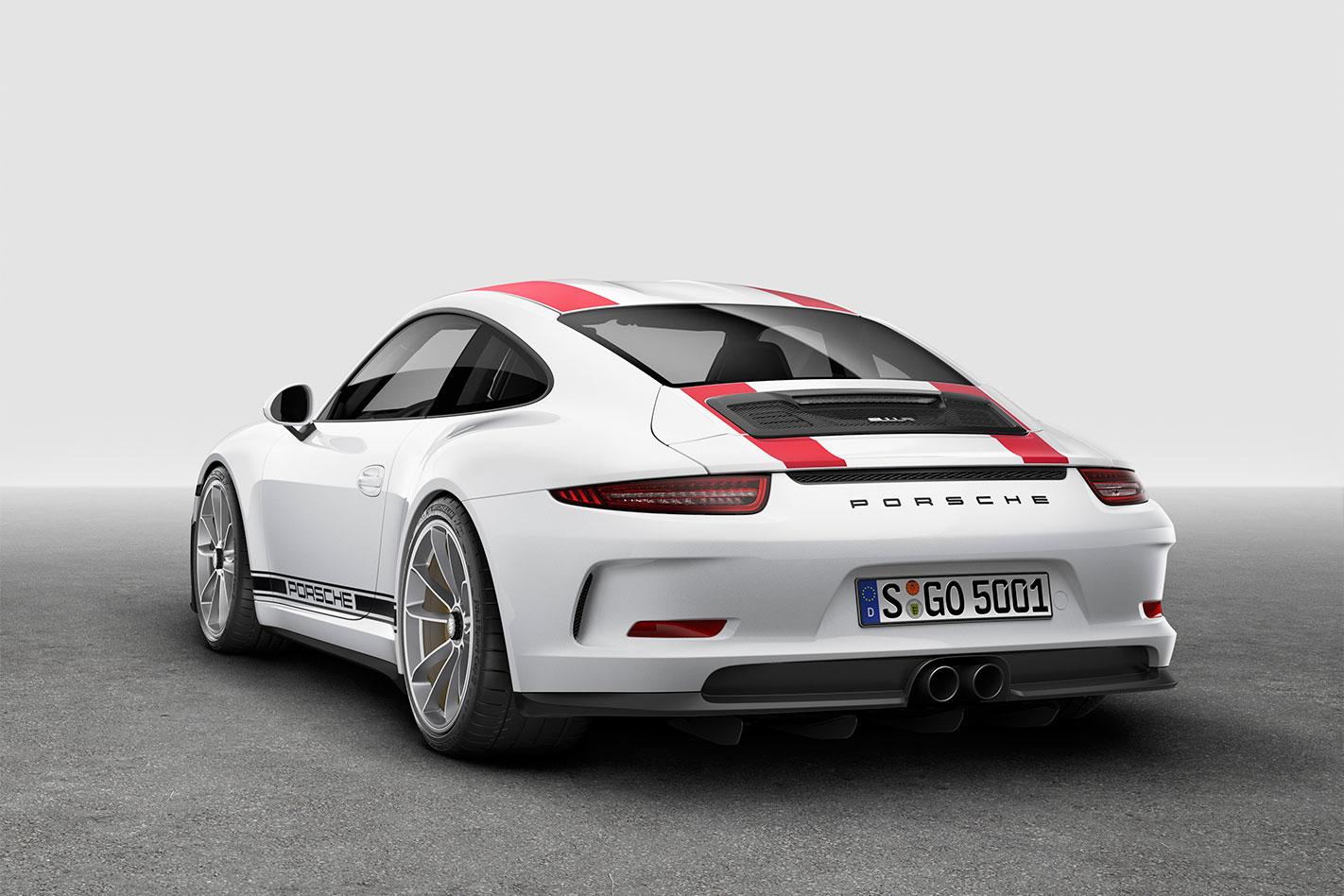 Porsche -911-R-rear