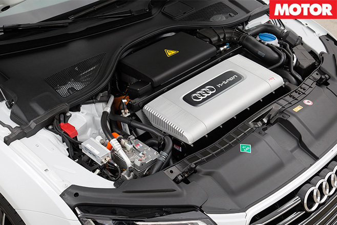 Audi A7 h-tron engine