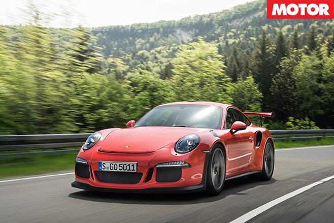 Porsche 911 GT3 RS front side