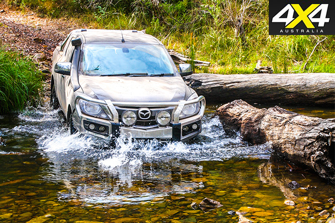 Mazda bt-50 driving through water