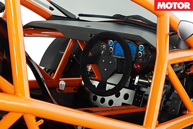 Ariel Nomad interior steering