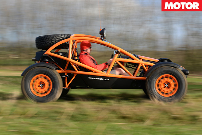 Ariel Nomad side driving