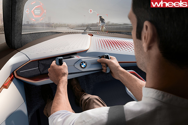 BMW-Next -100-concept -inside -driivng