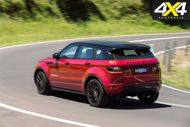 Range rover evoque rear side