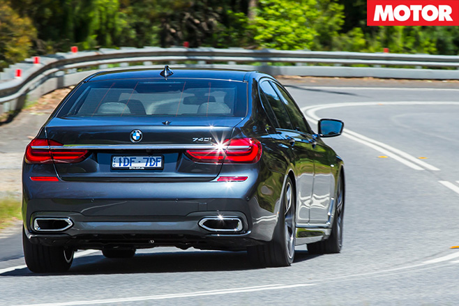 2016 BMW 740i review rear