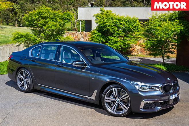 2016 BMW 740i side