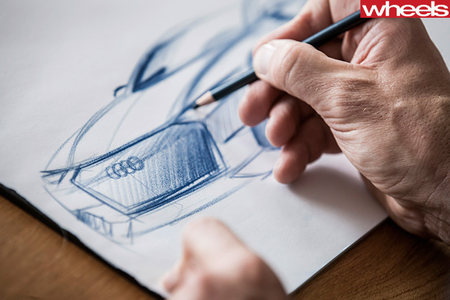 Audi -SUV-drawing