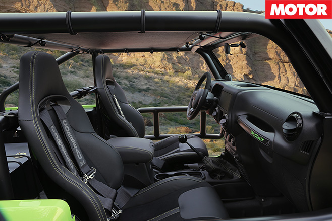 Jeep Wrangler trailcat interior