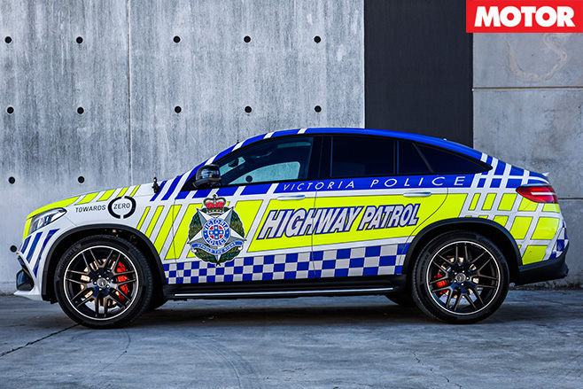 Victoria Police Mercedes GLE63 S patrol car side