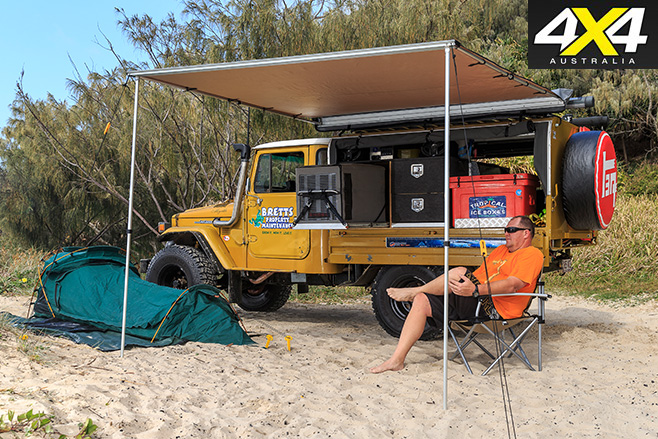 Custom 40 Series Land Cruiser Camping