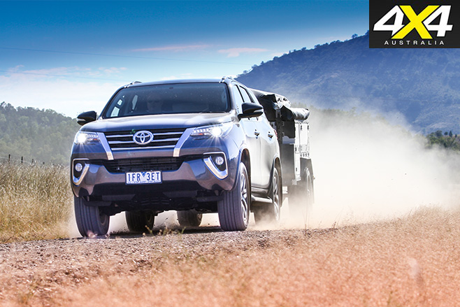 Toyota Fortuner Crusade driving