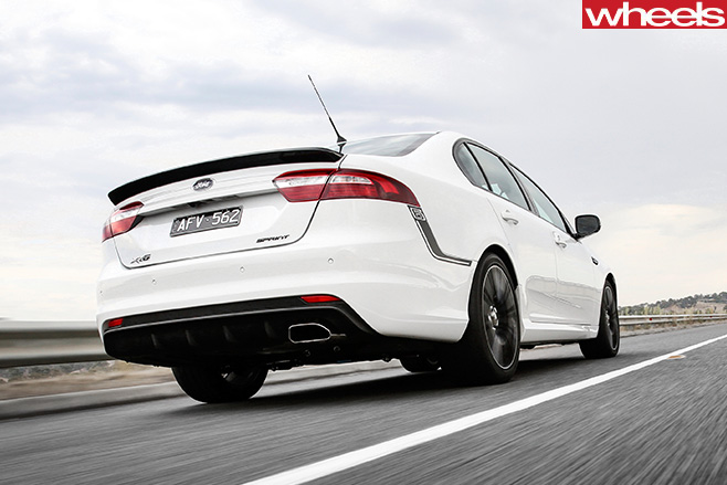 Ford -Falcon -XR6-sprint -driving -rear