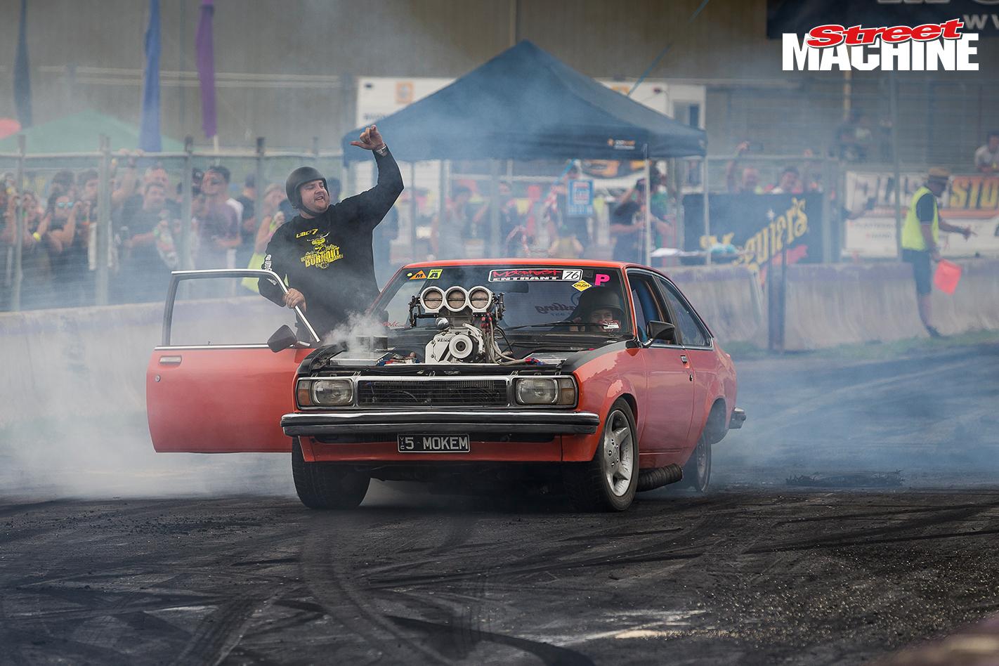 Holden UC Torana Burnout