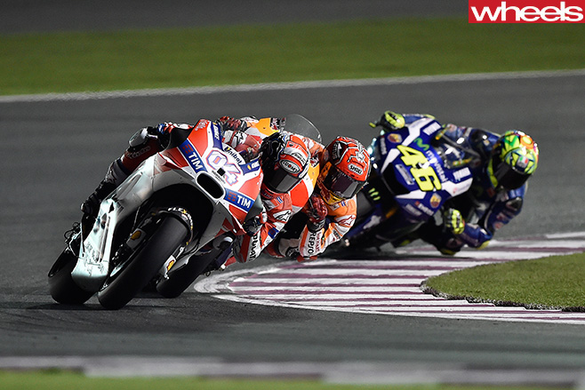 Moto GP-Qatar -Battle