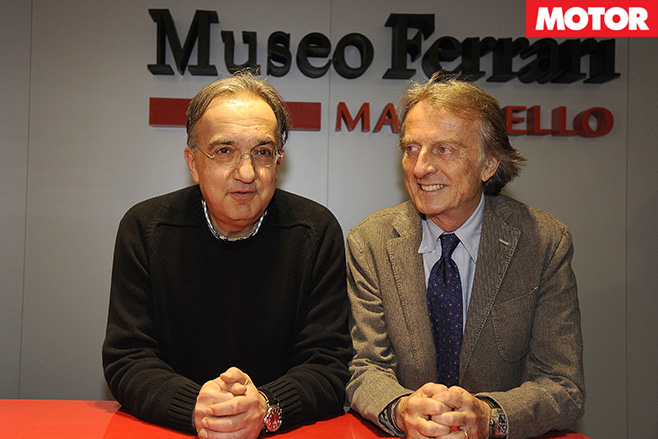 Sergio Marchionne and Luca Montezemolo