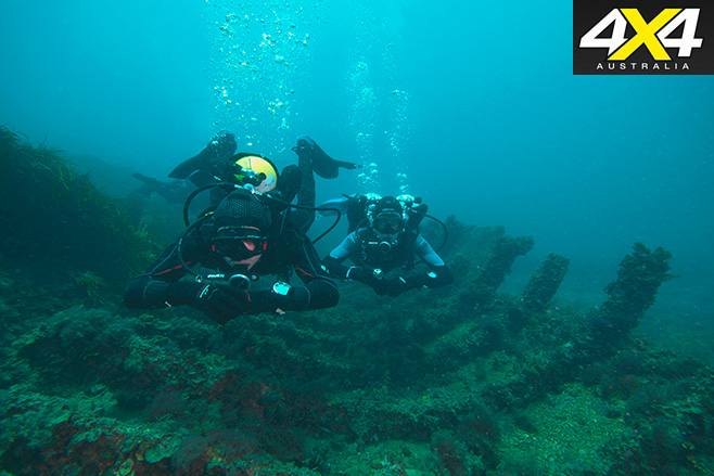 Scuba diving the shipwrecks