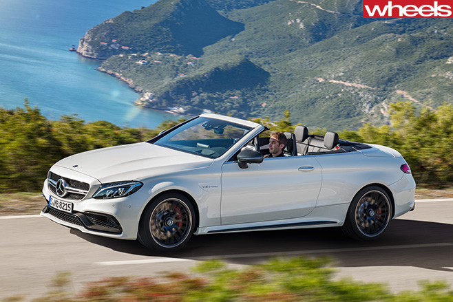 2016 new york motor show mercedes amg c63 s cabriolet for Mercedes benz strategic plan