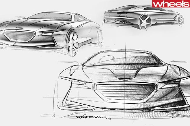 Hyundai -Genesis -sketches