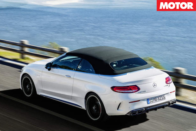 Mercedes-AMG C63 cabriolet revealed rear