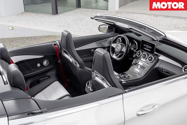 Mercedes-AMG C63 cabriolet interior