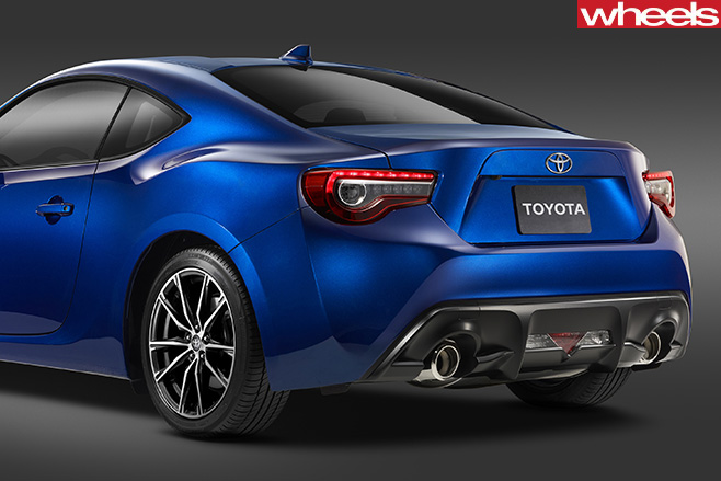 Toyota -86-rear -blue