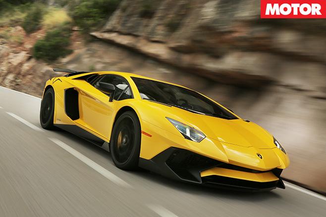 Lamborghini Avendator SV driving front