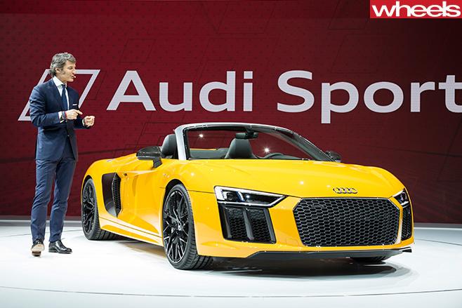 Audi -R8-Spyder -front -front -reveal