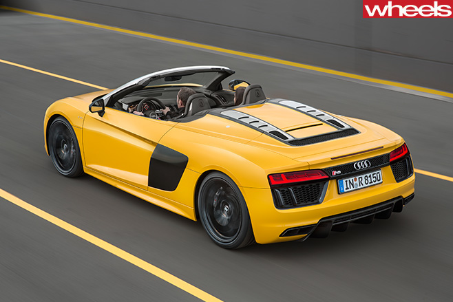 Audi -R8-Spyder -side -top