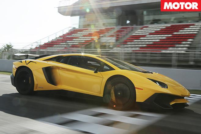Lamborghini Avendator SV side driving