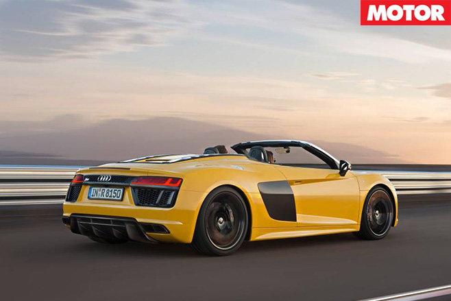 Audi R8 Spyder revealed rear