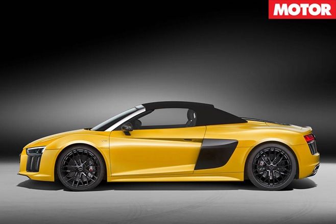 Audi R8 Spyder revealed side