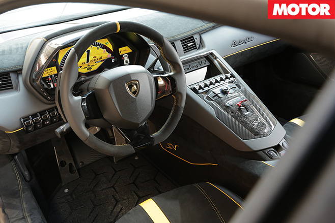 Lamborghini Avendator SV interior