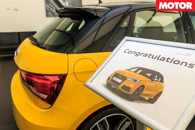 Audi S1 congratulations