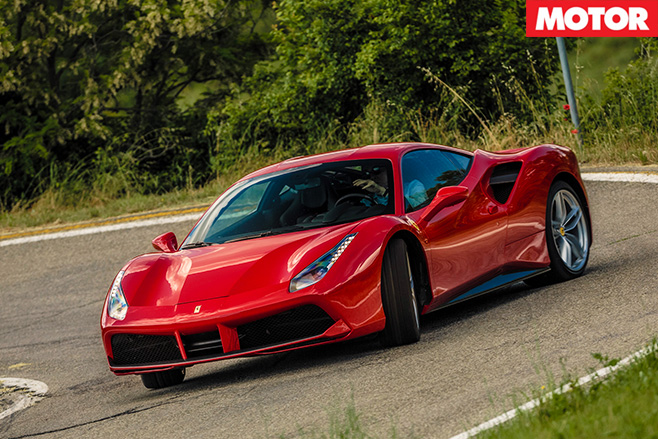 Ferrari 488 GTB front turning