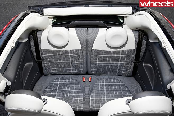 Fiat -500C-rear -seats