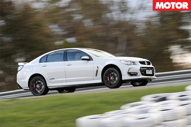 Holden commodore LS3 SS driving