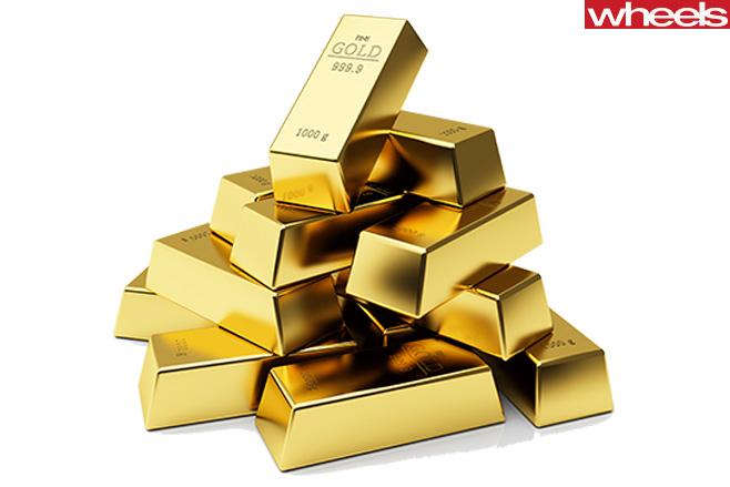 Golden -Buillion -pile