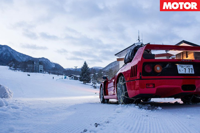 Ferrari F40 rear on snow