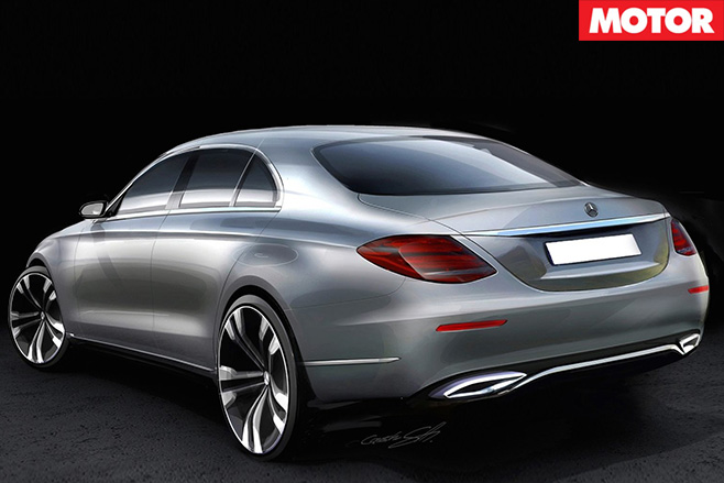 Mercedes-Benz E -Class rear sketch