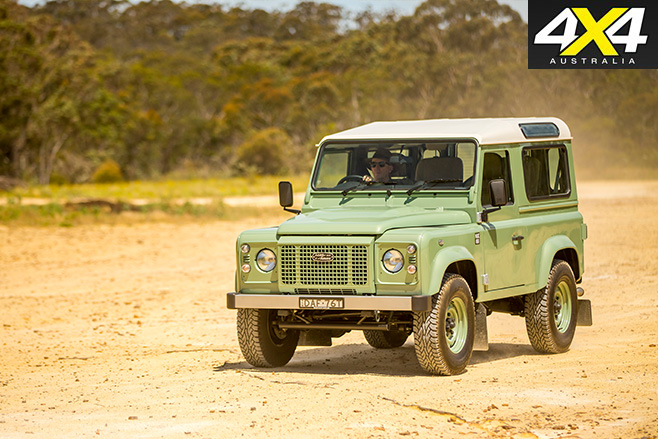 Land Rover Defender Heritage 90 driving