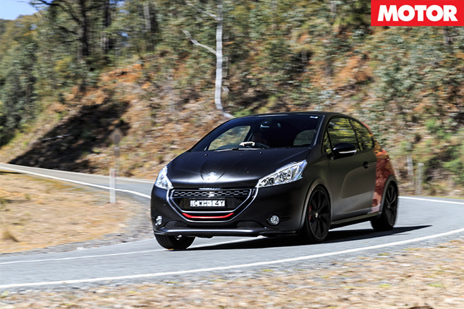 Peugeot 208 Gti 30th anniversary driving