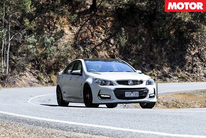 Holden commodore driving