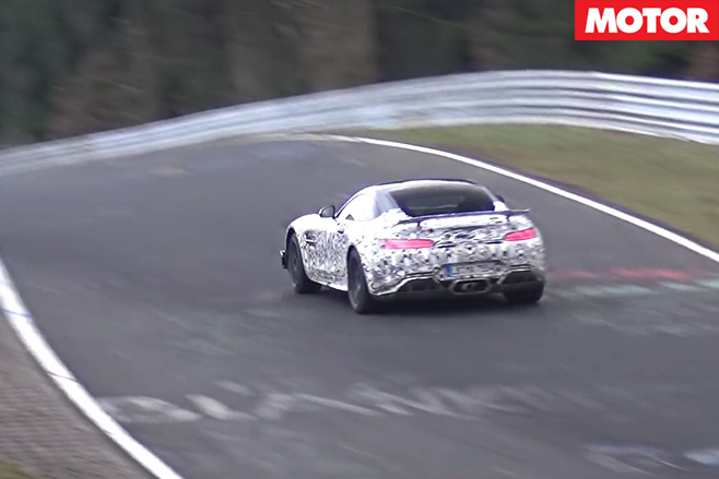 Mercedes-AMG GT R driving rear