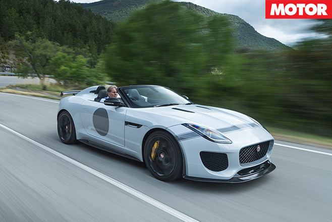 Jaguar F-Type Project 7 driving
